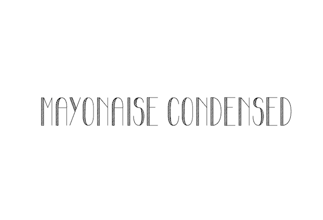 Mayonaise-Condensed