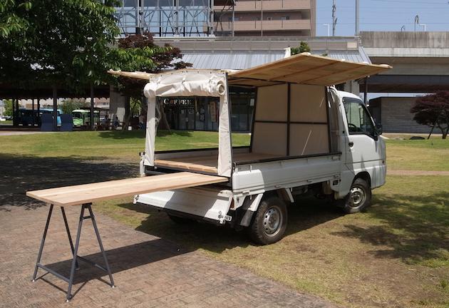 軽トラの荷台