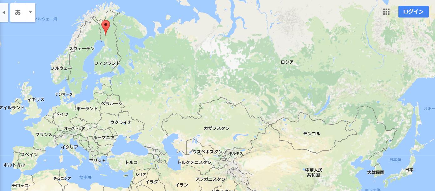 フィンランド・ロバニエミのマップ