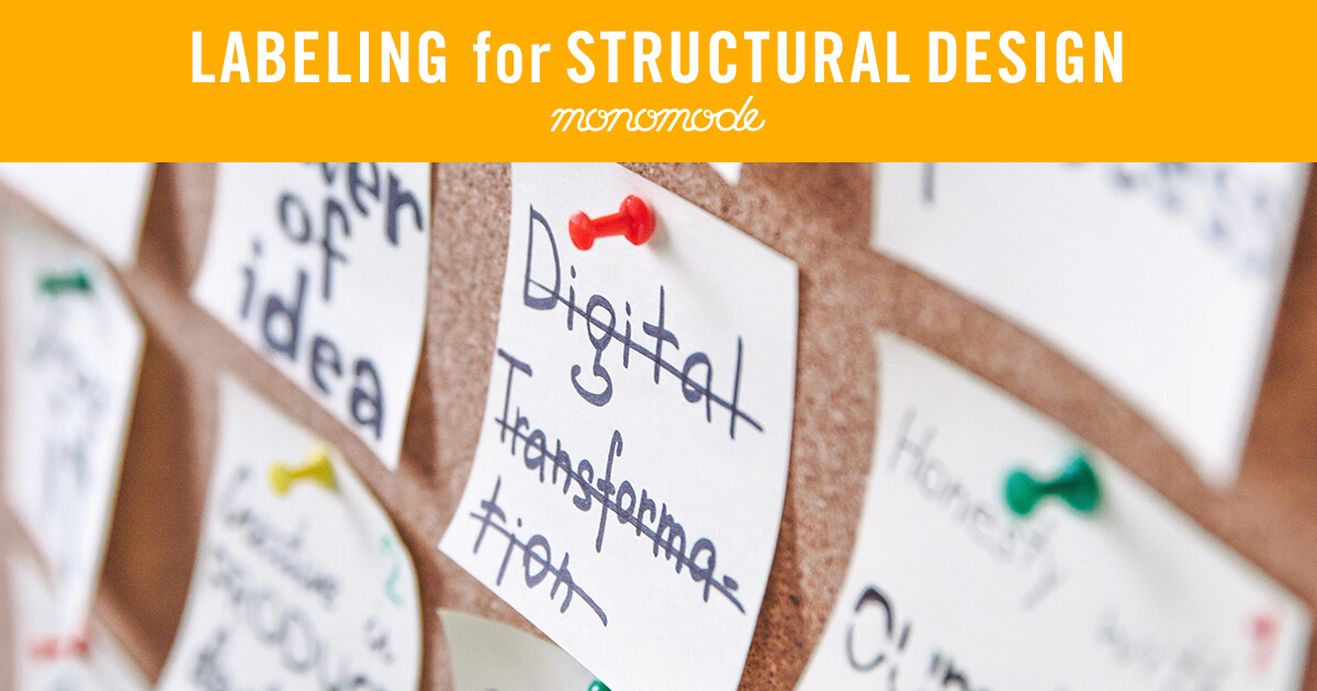 Labeling for Structural Design